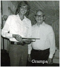 Barry with his grandfather, Joseph Mannilow.