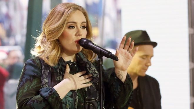 Adele's first-week sales were more than eight times those for any other album this year