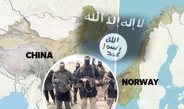 Islamic State claim to be holding two men, from Norway and China, hostage Photo Via www.express.co.uk
