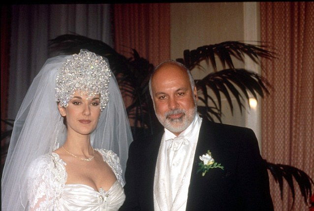 Mandatory Credit: Photo by PONOPRESSE/REX (238288a)  CELINE DION AND RENE ANGELIL  CELINE DION WEDDING TO RENE ANGELIL, MONTREAL, CANADA - 1994