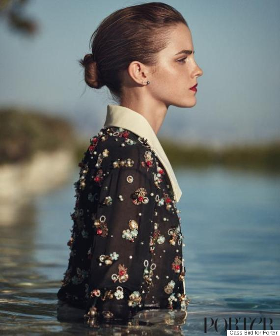 Emma wears blouse by Chanel and earrings by Catbird