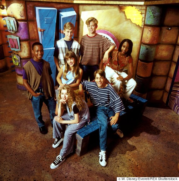 No Merchandising. Editorial Use Only. No Book Cover Usage Mandatory Credit: Photo by W. Disney/Everett/REX Shutterstock (520965a) MICKEY MOUSE CLUB, clockwise from far left: Tate Lynche, Ryan Gosling, Justin Timberlake, Nita Booth, T J Fantini, Christina Aguilera, Britney Spears (centre) 'MICKEY MOUSE CLUB' TV - 1989 - 1994