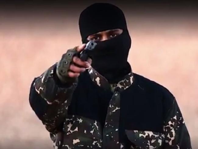 Disgraceful ... a masked killer threatened British Prime Minister David Cameron in a new ISIS video. Picture: YouTubeSource:Supplied