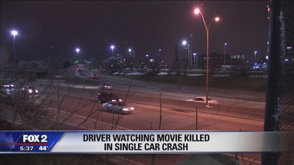 Man crashes car while watching porn