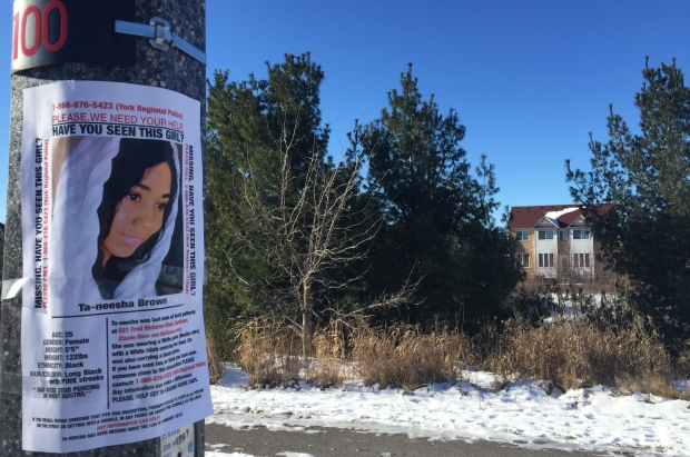 Taneesha Brown went missing on Jan. 12 when she told her family she was going out for some air but never returned. (Alison Chiasson/CBC)