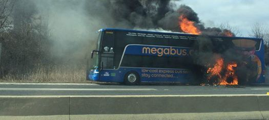 Megabus: Bus Catches Fire While Traveling From Chicago to Minneapolis