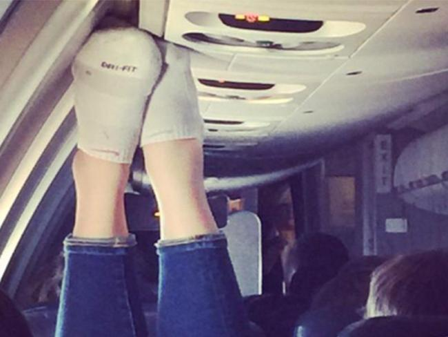 Are the seats in economy really that cramped? Picture: PassengerShaming.comSource:Supplied