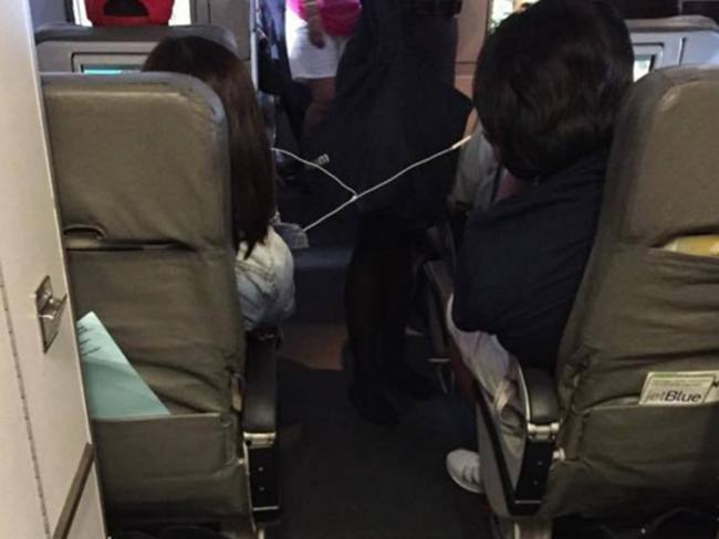 It's just a few hours on a plane, guys. Picture: PassengerShaming.comSource:Supplied