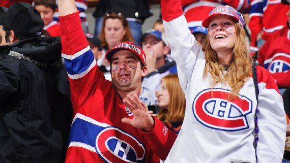Infant hit by puck at Canadiens practice released from hospital
