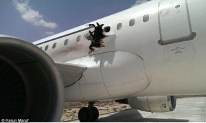 Al Shabaab named as prime suspects in 'bomb' that tore hole in Somali plane