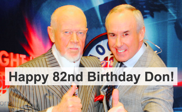 Don Cherry pictured with Ron MacClean