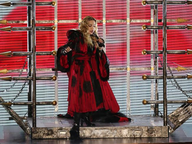 Madonna takes to the stage at Melbourne's Rod Laver Arena over the weekend. Picture: Yuri KoluzminSource:News Corp Australia