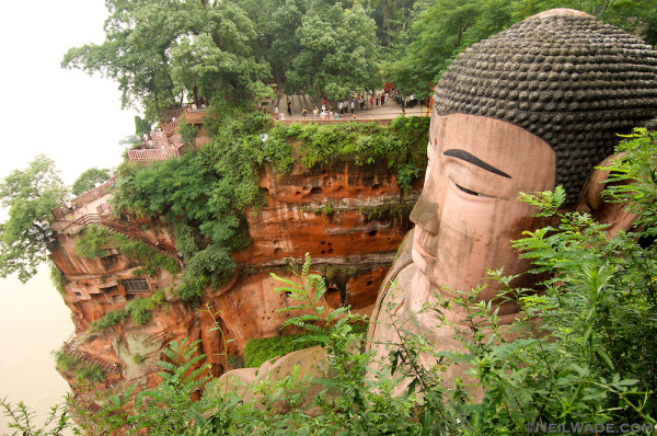 This is the world's largest Buddha carving.  It's found in Leshan, China. Neil Wade photography