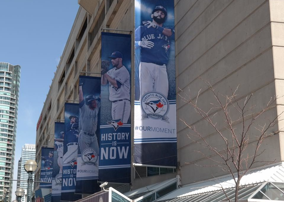 New banners have gone up at Rogers Centre!