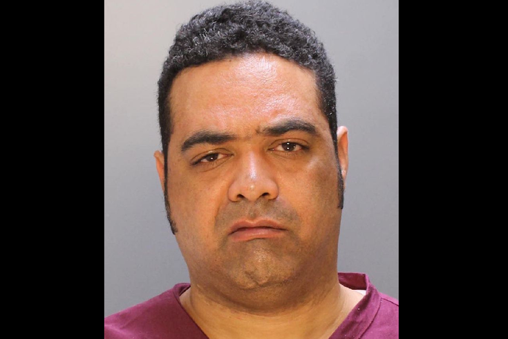 PHILADELPHIA POLICE DEPARTMENT/FOR PHILLYVOICE Steven E. Simminger, 40, of Media, Delaware County, is charged with murder. Police allege he stabbed and killed a 24-year-old Bucks County man walking near Rittenhouse Square early Sunday, March 13, 2016.