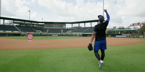 Kevin Pillar hits moving drone from 150 feet away! You have to see this!