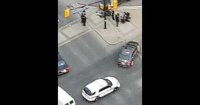 CAUGHT ON VIDEO: Police chase in Canada of suspected drunk driver