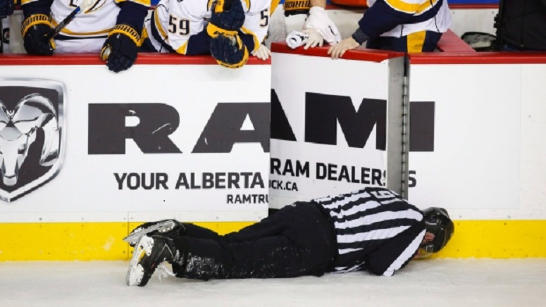 Linesman Don Henderson still recovering from Wideman hit