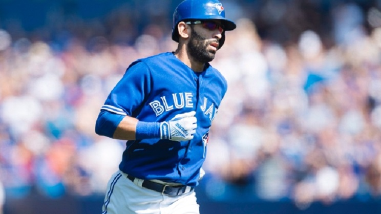 Bautista homers in first rehab at-bat