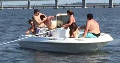 Brawl breaks out on crowded Maryland rental boat after man throws beer can at another passenger