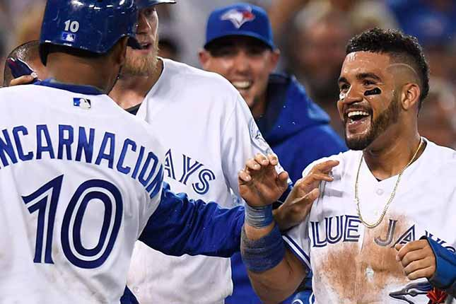 Travis' heroics take centre stage in wild Blue Jays win over Padres