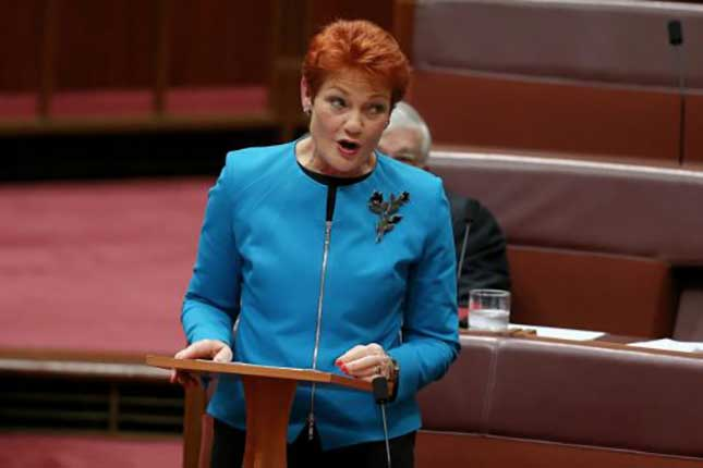 Australian MPs walk out as far right leader delivers anti-Islamic speech (VIDEO)