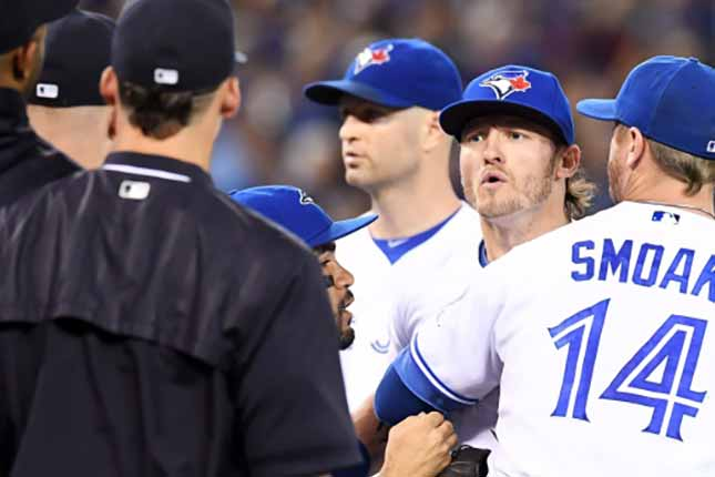 Bench clearing brawls ensue between Blue Jays, Yankees after string of hit batsmen