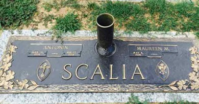 Secret burial site of Supreme Court Justice Antonin Scalia is revealed