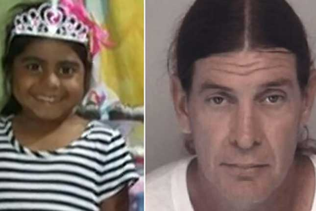 6 Year old girl saved from predator after found chained to a tree