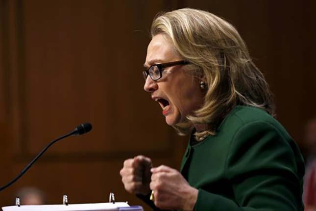 Hillary Clinton defiantly calls F.B.I letter about her emails 'deeply troubling' (VIDEO)