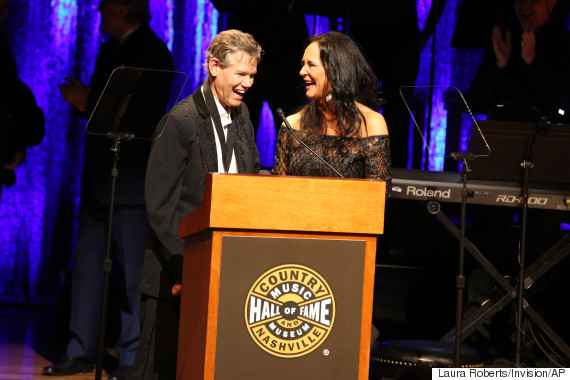 From left, artist Randy Travis and wife Mary Travis as the Country Music Hall of Fame Medallion Ceremony at the Country Music Hall of Fame and Museum on Sunday, Oct. 16, 2016 in Nashville, Tenn. (Photo by Laura Roberts/Invision/AP)