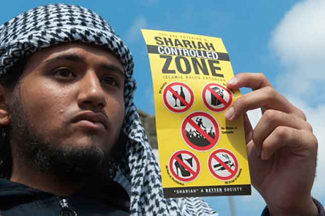 Islamists call for Sharia to dominate the UK and the world in London England