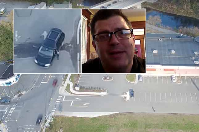Husband uses drone to catch his wife cheating on him (VIDEO)