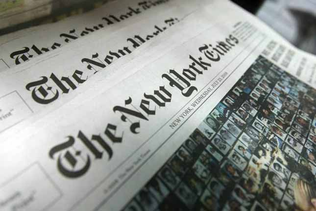Fake news website New York Times warns people about fake news
