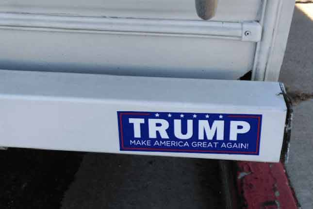 VIDEO: Trump supporter's truck torched because of bumper sticker