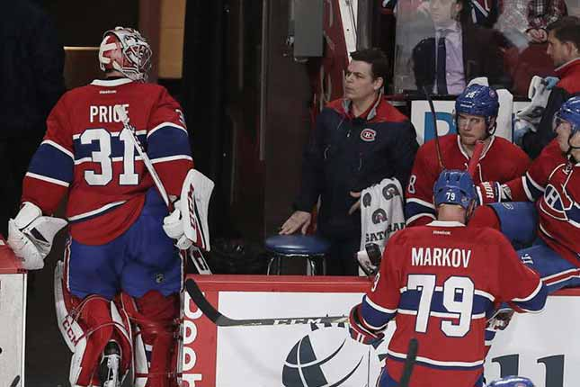 Carey Price to start Saturday after being pulled, staring down bench