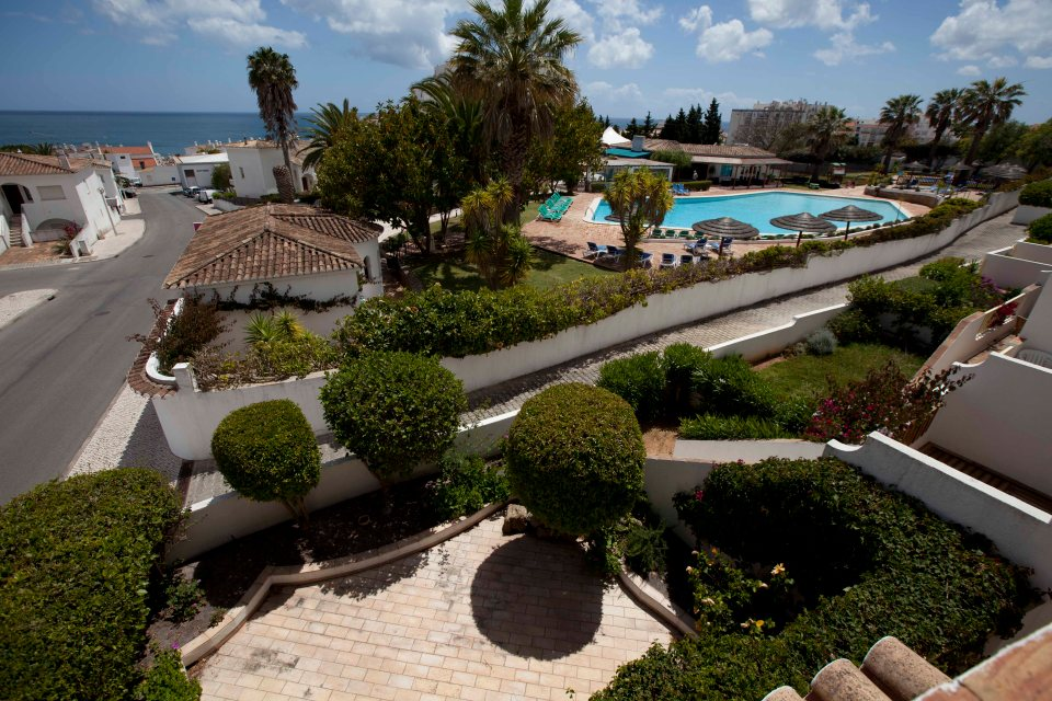The view from the apartment above the room that Madeline McCann was in when she went missing
